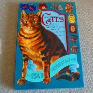 Victorian Cats Decoupage Book NEW 10 Projects